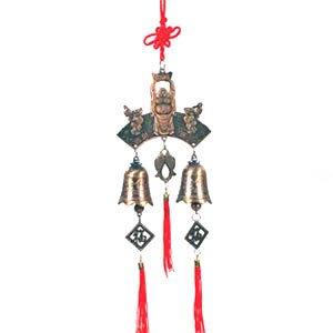 Chinese Golden Buddha Prosperity Bell - Brass