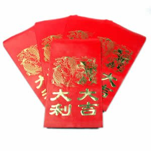 """Envelopes - Lucky Red Large - 38/pack (8.5"""" x 4.75"""")"""