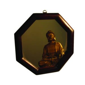 Feng Shui Bagua Mirror - Wood