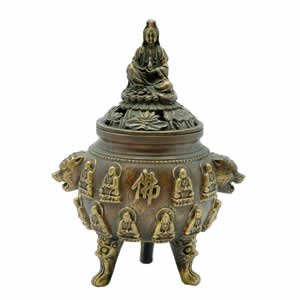 Incense Burner - Kwan Yin - Goddess of Mercy