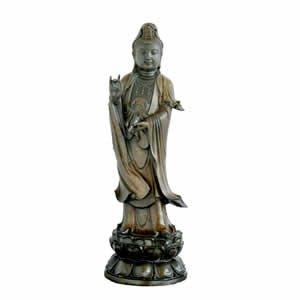 Kwan Yin Sculpture - Bronze - 36 inch