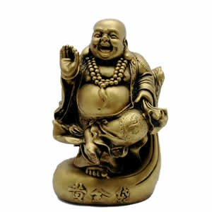 Blessing Buddha - Gold Resin - 5.5 inch