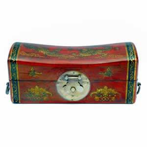 Leather Pillow Box - Dragon & Phoenix