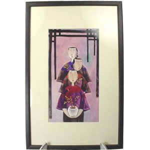 Framed Print - Watercolor - 3 Ladies