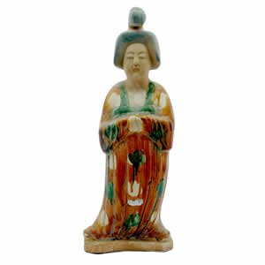 Gold Tang Lady - Porcelain - 17 inch