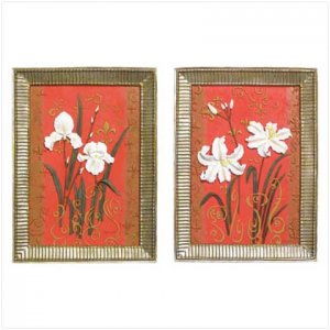 White Flower Plaques