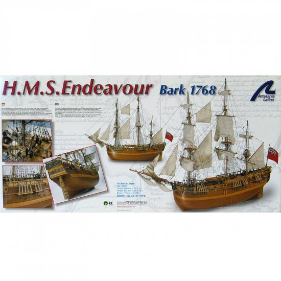 Artesania Latina HMS Endeavor Wooden Ship Model Kit 1:60 Scale
