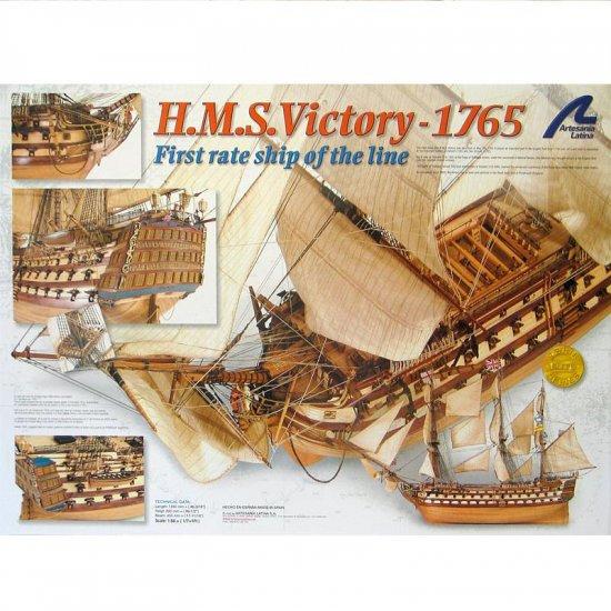 Artesania Latina HMS Victory Wooden Model Ship Kit 1:84 Scale