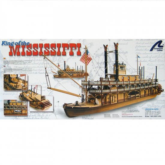 Artesania Latina King of the Mississippi Wooden Model Ship Kit 1:80 Scale