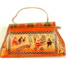 Shantiniketan Structured Flap Bag with Shoulder Strap