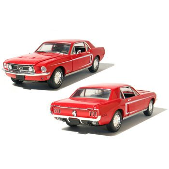 1968 Mustang GT Coupe Candy Apple Red 1/18 Car Muscle Car Garage Series