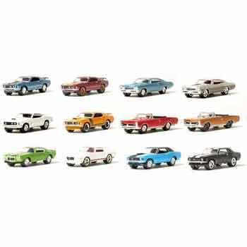 Muscle Car Garage Series 1 Stock & Custom 1/64 Cars Mixed case of 12 By GreenLight 2006