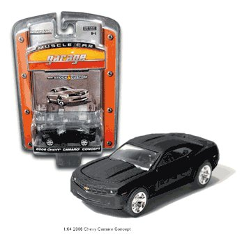 2006 Chevy Camaro Black Concept 1/64 Car Muscle Car Garage Series By GreenLight