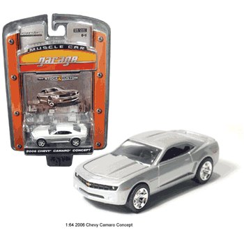 2006 Chevy Camaro Silver Concept 1/64 Car Muscle Car Garage Series By GreenLight