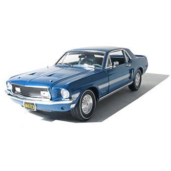 1968 Mustang California Special Acapulco Blue 1/18 Car Muscle Car Garage Series By GreenLight