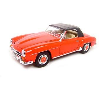 Welly 1955 Mercedes Benz 190SL Red Soft Top 1:18 Diecast Model