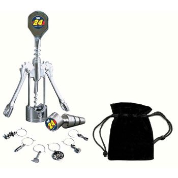 #24 Jeff Gordon Wine Set with Charms by MotorHead