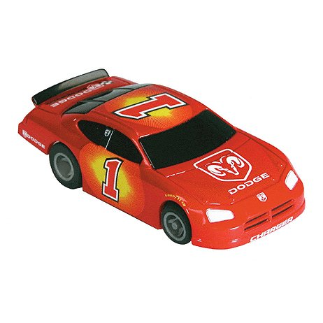 Dodge Charger-Red Electric Racing Slot Car Life-Like Products -433-9793