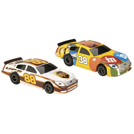 NASCAR Twin Pack #88 UPS / #38 M&M's Electric Slot Cars Life-Like Products -433-9033