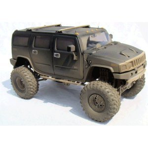 Black H2 Hummer 1/24 Diecast SUV -Dusty Version