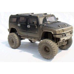 Black H2 Hummer 1/24 Diecast SUV -Extreme Boggin' Version