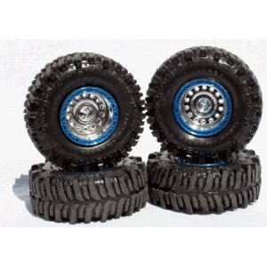"Universal TSL Boggers ""True Blue"" 1/24 Tire Set"