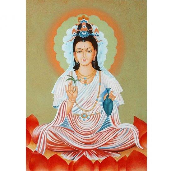 Ever Graceful Kuan Yin Painting