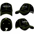#7 Robby Gordon Black Monster Energy Flex Fit Hat Checkered Flag Sports