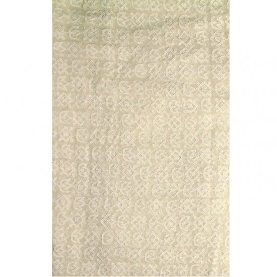 Undyed Pure Georgette Fabric with All-Over Chikan Embroidery by Hand