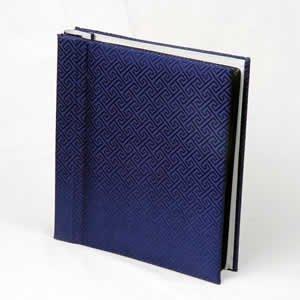 Silk Covered Photo Album - Blue
