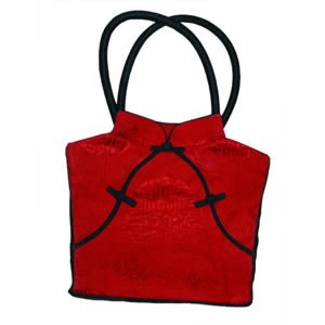 Traditional Chinese Dress Silk Bag - Red