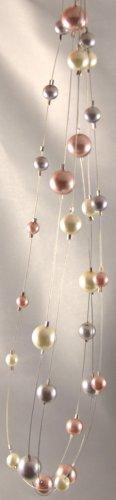Glass Pearl Multi-Strand Necklace