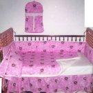 Pink John Deere crib bumper