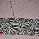 Zebra and hot pink crib bumper