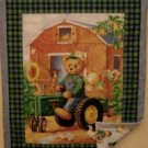 Blue Jean Teddy Bear John Deere crib quilt