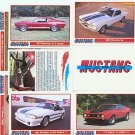FORD FORD MUSTANG MUSTANGS GT MACH BOSS G.T SVO SALEEN COLLECTOR COLLECTIBLE CARS CAR CARDS SET