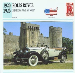 1920 21 22 23 24 25 1926 ROLLS ROYCE SILVER GHOST COLLECTIBLE COLLECTOR NICE