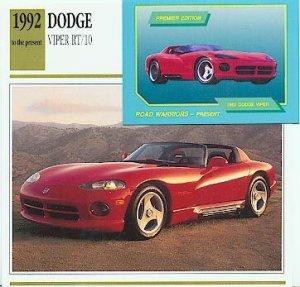 1992 92 DODGE VIPER RT/10 488 CU IN V10 ROADSTER