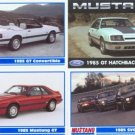 1985 85 FORD MUSTANG GT CONVERTIBLE COLLECTIBLE CARDS