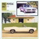 1966 66 PONTIAC GTO COLLECTOR COLLECTIBLE