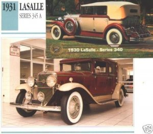 1931 31 LASALLE SERIES 345 A SEDAN COLLECTIBLE