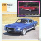 1968 68 FORD MUSTANG SHELBY GT 350 GT350 G.T. COLLECTOR