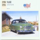1950 50 1951 51 NASH AMBASSADOR COLLECTOR