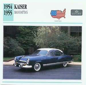 1954 54 KAISER MANHATTAN COLLECTIBLE COLLECTOR