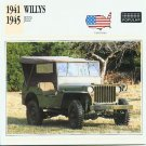 1941 1942 1943 1944 1945 WILLYS JEEP US ARMY MILITARY