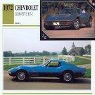 1972 72 CHEVY CHEVROLET CORVETTE LT-1 LT1 VETTE VETTES
