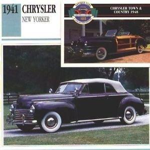 1941 CHRYSLER NEW YORKER CONVERTIBLE COLLECTOR COLLECTIBLE