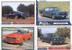 1965 65 FORD MUSTANG K-GT FASTBACK COLLECTOR CAR CARDS