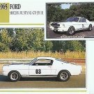 1965 65 FORD SHELBY MUSTANG G.T.350 GT350 R RACE 289 COLLECTOR COLLECTIBLE