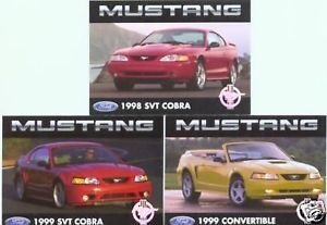 1998 98 1999 99 FORD MUSTANG SVT COBRA COLLECTIBLE COLLECTOR MUSTANGS FORDS
